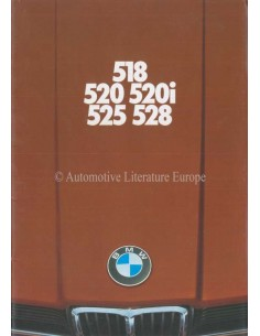 1976 BMW 5 SERIES BROCHURE GERMAN