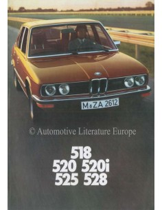 1977 BMW 5 SERIES BROCHURE DUTCH