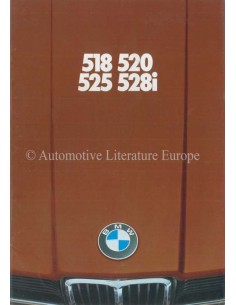 1977 BMW 5ER PROSPEKT NIEDERLÄNDISCH