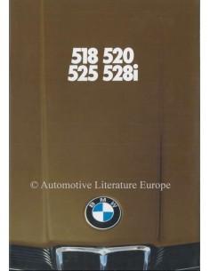 1979 BMW 5ER PROSPEKT NIEDERLÄNDISCH