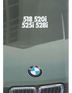 1981 BMW 5 SERIES BROCHURE GERMAN