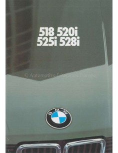1981 BMW 5 SERIES BROCHURE DUTCH