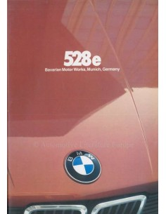 1981 BMW 5 SERIES BROCHURE ENGLISH
