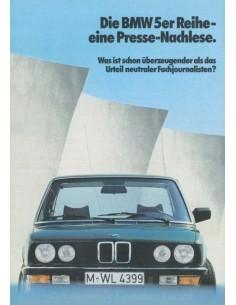 1982 BMW 5 SERIES BROCHURE GERMAN
