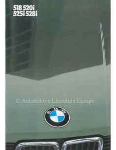 1982 BMW 5 SERIES BROCHURE DUTCH