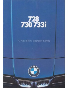1978 BMW 7 SERIES BROCHURE GERMAN