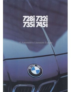 1980 BMW 7 SERIES BROCHURE GERMAN