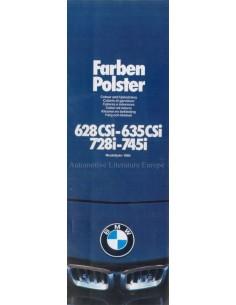 1980 BMW 6 & 7 SERIEN FARBEN UND POLSTER PROSPEKT