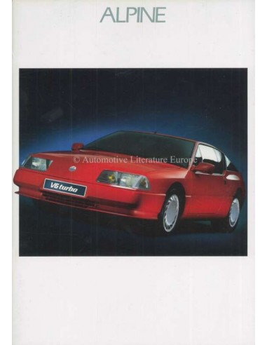 1989 ALPINE V6 TURBO BROCHURE DUITS
