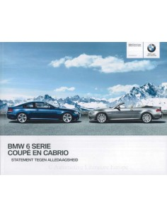 2009 BMW 6 SERIES COUPÉ & CONVERTIBLE BROCHURE DUTCH