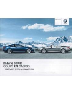 2009 BMW 6ER COUPÉ & CABRIOLET PROSPEKT NIEDERLÄNDISCH