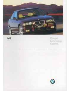 1996 BMW M3 SERIES BROCHURE GERMAN