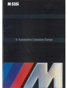 1984 BMW M5 BROCHURE ENGLISH