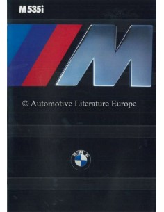 1985 BMW M5 BROCHURE ENGLISH