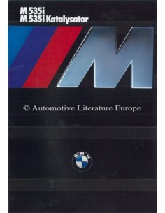 1985 BMW M5 BROCHURE GERMAN