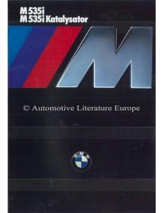 1986 BMW M5 BROCHURE GERMAN