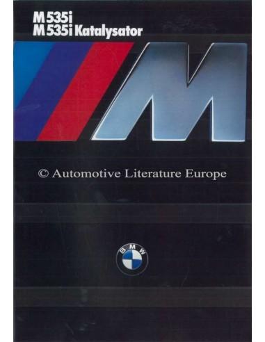 1985 BMW M5 BROCHURE GERMAN