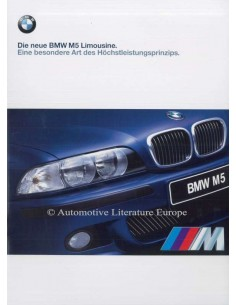 1998 BMW M5 SALOON BROCHURE GERMAN