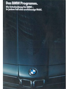 1986 BMW RANGE BROCHURE GERMAN