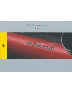 2013 FERRARI LAFERRARI OWNER'S MANUAL ITALIAN