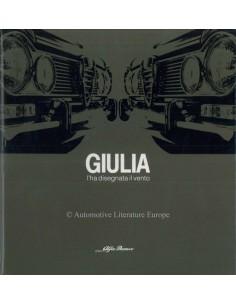 1982 ALFA ROMEO GIULIA I'HA DISEGNATA IL VENTO BOOK ITALIAN