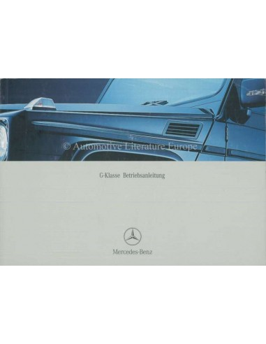 2003 MERCEDES BENZ G CLASS OWNERS MANUAL GERMAN