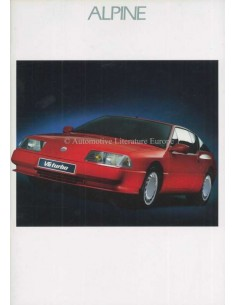 1989 ALPINE V6 TURBO BROCHURE DUITS