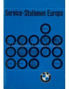 1972 BMW SERVICE HÄNDLER VERZEICHNIS EUROPA HANDBUCH