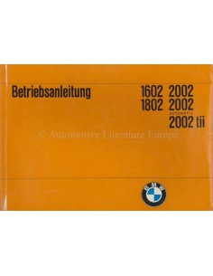 1971 BMW 1602 1802 2002 BETRIEBSANLEITUNG DEUTSCH