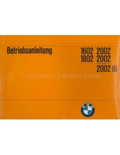 1972 BMW 1602 1802 2002 OWNER'S MANUAL GERMAN