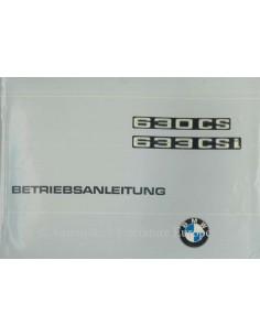 1977 BMW 630 CS / 633 CSi BETRIEBSANLEITUNG DEUTSCH