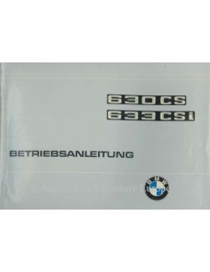 1977 BMW 630 CS / 633 CSi OWNER'S MANUAL GERMAN