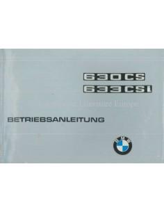 1976 BMW 630 CS / 633 CSi BETRIEBSANLEITUNG DEUTSCH