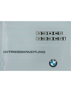1976 BMW 630 CS / 633 CSi OWNER'S MANUAL GERMAN