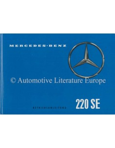 1959 MERCEDES BENZ 220 SE OWNER'S MANUAL GERMAN