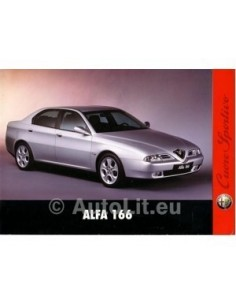 1998 ALFA ROMEO 166 INTRO BROCHURE ITALIAANS