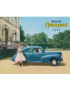 1958 PEUGEOT 203 BROCHURE FRENCH
