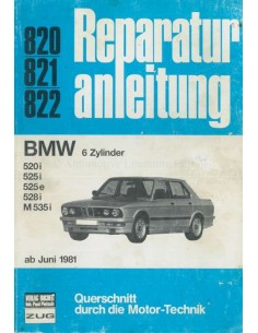 1981 BMW 5 SERIES REPAIR MANUAL GERMAN