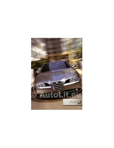 2005 ALFA ROMEO 166 BROCHURE DUITS