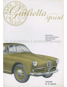 1955 ALFA ROMEO GIULIETTA SPRINT BROCHURE ITALIAN