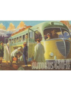 1949 ALFA ROMEO 430 A AUTOBUS PROSPEKT FRANZÖSISCH