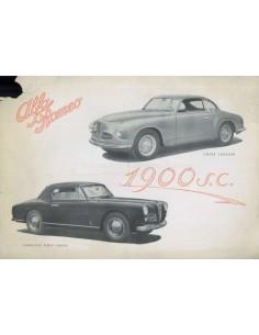 1951 ALFA ROMEO 1900SC DATENBLATT