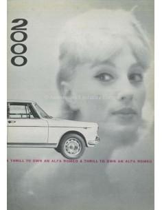 1961 ALFA ROMEO 2000 BERLINA PROSPEKT ENGLISCH