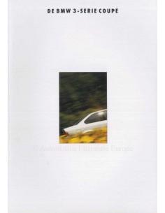 1992 BMW 3 SERIES COUPE BROCHURE DUTCH