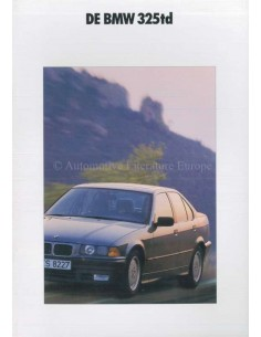 1991 BMW 3 SERIES DIESEL BROCHURE DUTCH