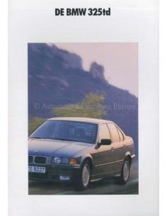 1991 BMW 3ER DIESEL PROSPEKT NIEDERLÄNDISCH
