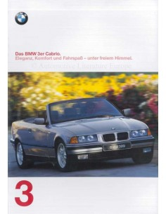 1997 BMW 3 SERIES CONVERTIBLE BROCHURE GERMAN