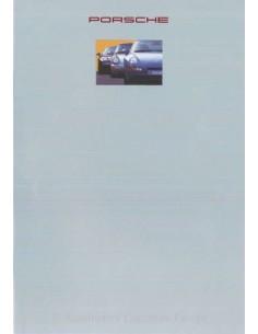 1992 PORSCHE PROGRAMM PROSPEKT NIEDERLÄNDISCH