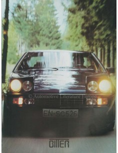 1984 BITTER SC COUPE BROCHURE GERMAN