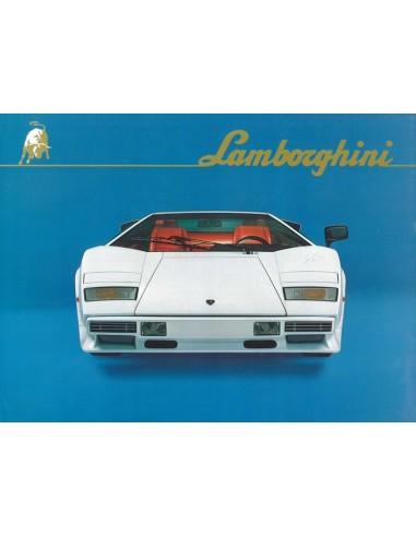 1985 LAMBORGHINI COUNTACH LP5000 QUATTROVALVOLE BROCHURE
